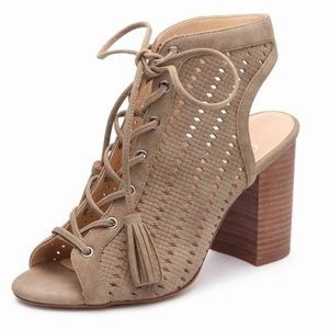 Jessica Simpson Lace Up Block Heel Sandals